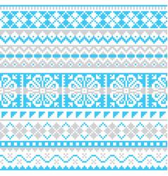 fair isle knit winter seamless pattern vector image