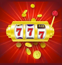 Flat slot mashine jackpot triple seven vector