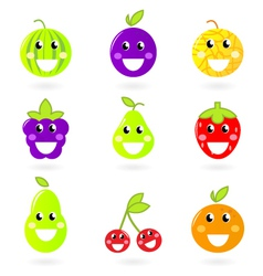 Fruity icon collection vector