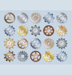 Gear mechanics gearing web vector