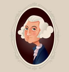george washington caricature vector image