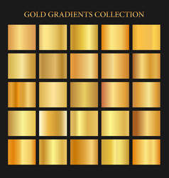 Golden gradients collection background gold metal vector