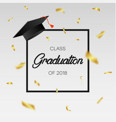 graduating class 2018 - template for card vector image
