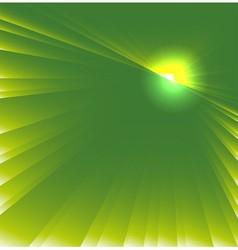 Green star burst background vector
