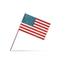 Grunge styled flag usa vector