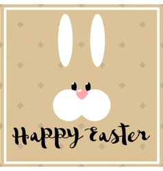 Happy easter poster with hare vector image