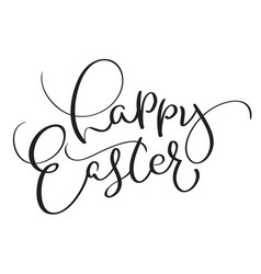 happy easter words on white background vector image