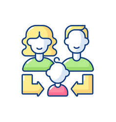 Heredity rgb color icon vector