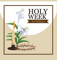 holy week catholic tradition vector image