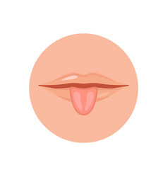 human mouth with tongue vector image
