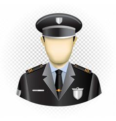 Human template policeman vector