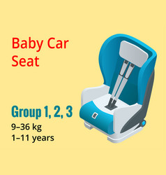 isometric baby car seat group 123 vector image