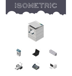 Isometric cabinet set of computer garbage vector