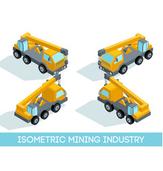isometric mining industry vector image