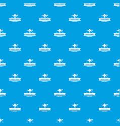 jurassic history pattern seamless blue vector image