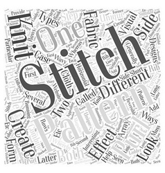 Knitting patterns Word Cloud Concept vector