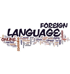 Learn a foreign language online text background vector