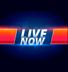 live now streaming news background vector image