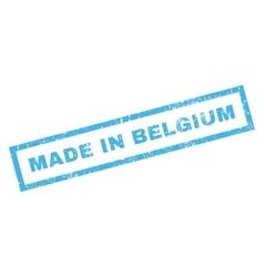 Made In Belgium Rubber Stamp vector