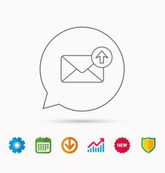mail outbox icon email message sign vector image