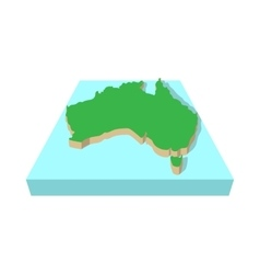 Map of Australia icon cartoon style vector