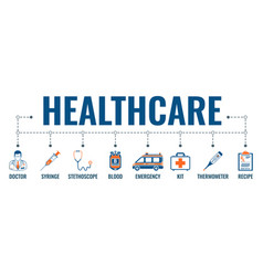 medicine and healthcare banner vector image