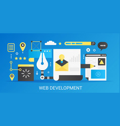 modern flat gradient web development vector image