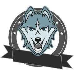 Modern professional wolf logo for a club or sport vector image