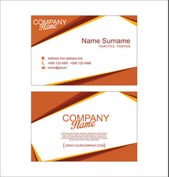 modern simple business card template 3 vector image