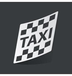 Monochrome taxi sticker vector image