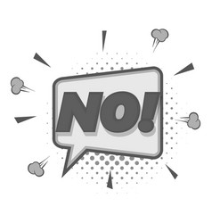 no speech bubble icon monochrome vector image