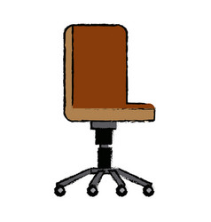 Office chair wheel comfort furniture vector