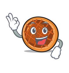 Okay baket pie character cartoon vector