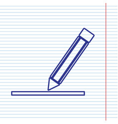 pencil sign navy line icon vector image