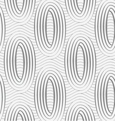 Perforated ovals on continues lines vector