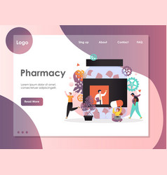 pharmacy website landing page design vector image