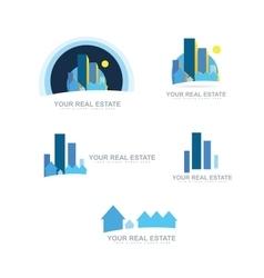 Real estate logo icon set vector