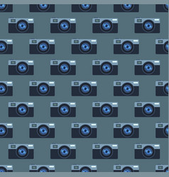 Retro photo camera seamless pattern vector