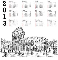 Rome colosseum 2013 calendar vector