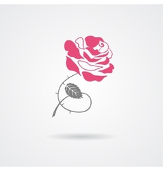 Rose symbol isolated on white background vector