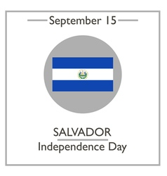 Salvador Independence Day vector image