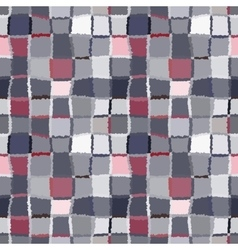 Seamless geometric mosaic checked pattern vector image