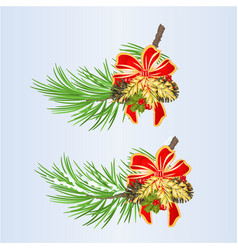 set of christmas and new year decoration vector image