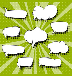 set of speech bubbles retro style vector image vector image