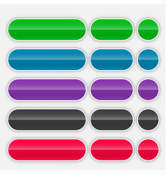 shiny colorful web buttons set vector image