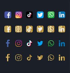 social media logo vector image