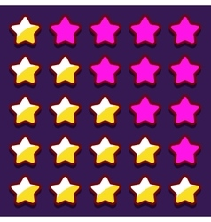 Space game rating stars icons buttons vector image
