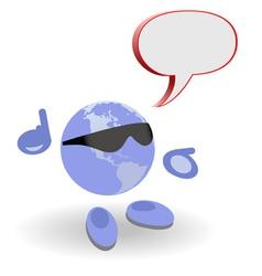speech world vector image