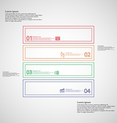Square infographic template divided to four parts vector