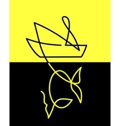 Symbol fishing vector